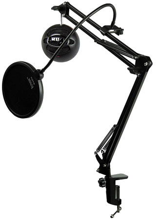 5. Blue Microphones Snowball iCE Black Microphone with Knox Studio Boom Arm & Pop Filter
