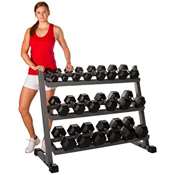 6. XMark's Heavy Duty Three Tier Dumbbell Rack