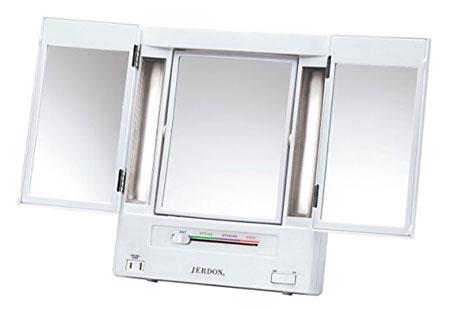 7. Jerdon JGL9W Tri-Fold Lighted Makeup Mirror