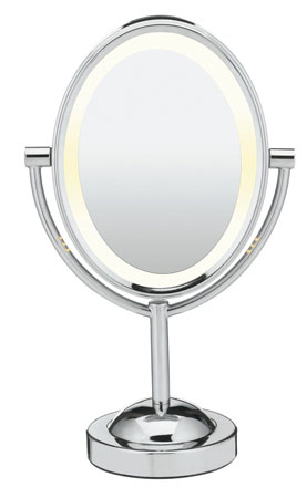 3. Conair Oval Double-Sided Lighted Makeup Mirror