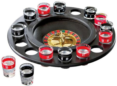 4. Roulette Shot Glass Drinking Game Set