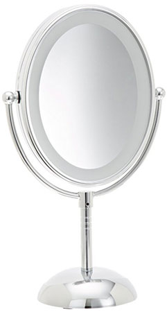 8. Conair Oval Shaped LED Double-Sided Lighted Makeup Mirror
