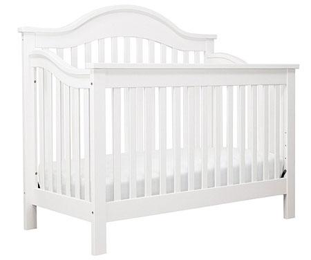 9. DaVinci Jayden 4-in-1 Convertible Crib with Toddler Rail, White