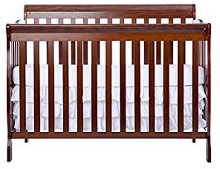 4. Dream on Me Ashton 5 in 1 Convertible Crib, Espresso
