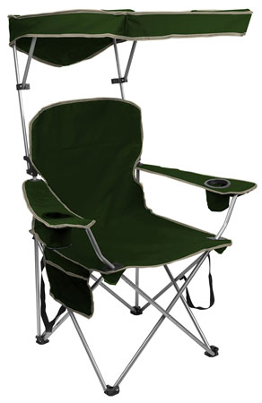 10. Quick shade adjustable canopy folding camp chair