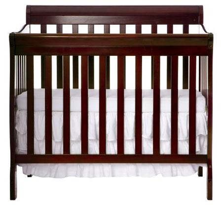 10. Dream on Me 4 in 1 Aden Convertible Mini Crib, Espresso