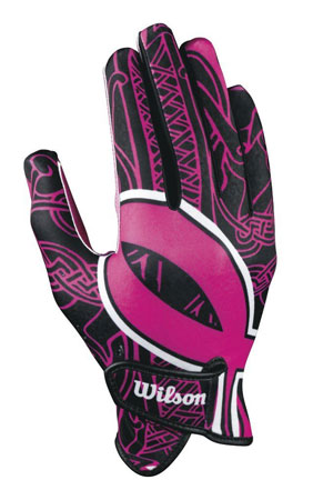 7. Wilson Adult Receivers Glove with Ribbon