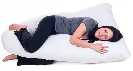 5. Full Contoured Body Pillow by Lavish Home