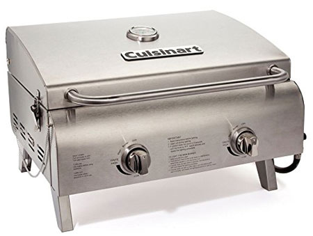 6. CuisinartCGG-306 Chef's Style-Stainless Tabletop Grill