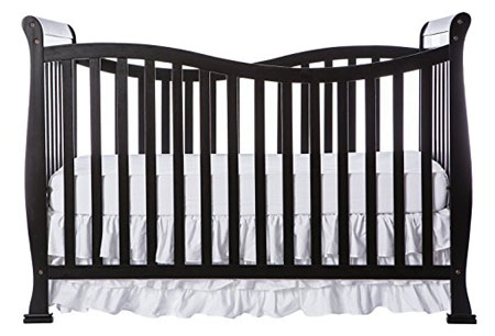 5. Dream on Me Violet 7 in 1 Convertible Life Style Crib, Black