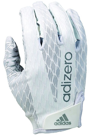 5. adidas adiZERO 4.0 Adult Football Receiver's Gloves