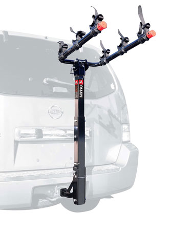 3. Allen Sports 3-Bike Hitch Mount Rack with 1.25/2-Inch Receiver