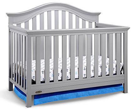 8. Graco Bryson 4-in-1 Convertible Crib, Pebble Gray