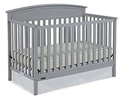 3. Graco Benton Convertible Crib, Pebble Gray