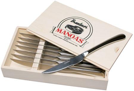 7. Bruntmor,ALBA Gourmet Stainless Steel 8-Piece Steak Knife