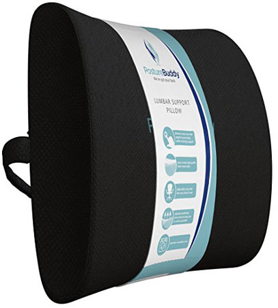 8. The Posturebuddy 400g Memory Lumbar Support