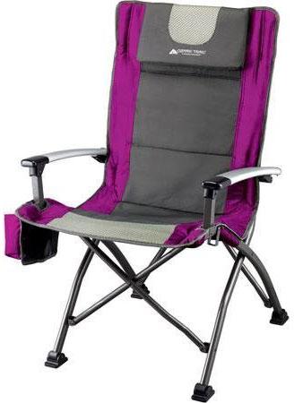 7. Ultra high back folding quad camp chair