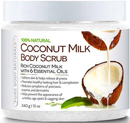 2. Pure Coconut Milk Body Scrub