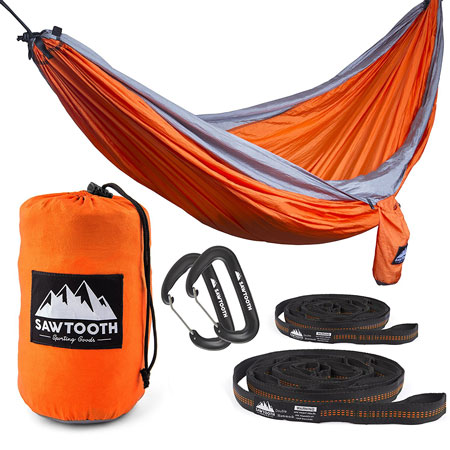 4. Sawtooth Double Camping Hammock BUNDLE - Double Hammock