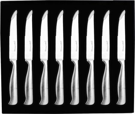 1. Utopia Kitchen 8-Piece Stainless Steel Kitchen Steak Knife