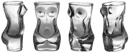 10. Sexy Naked Female Body Shape Shot Glass Set