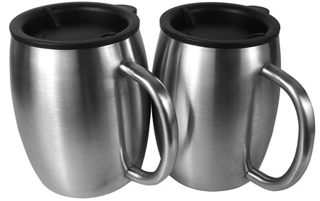 4. Oz Double Walled Insulated Coffee Mugs