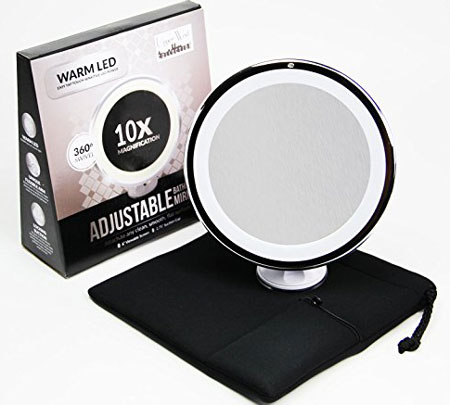 1. 10x Magnifying Lighted Makeup Mirror