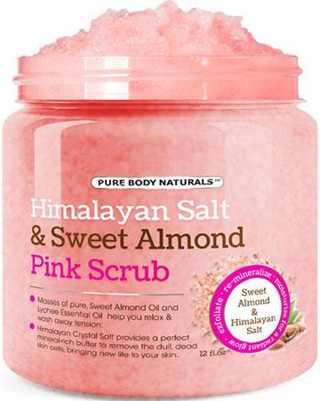 5. Body Scrub with NaturalHimalayan Salt