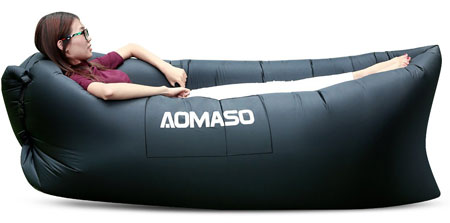 3. Aomaso Inflatable Waterproof Lounger