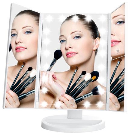 5. LeJu Lighted Vanity Mirror with 21 LED Lights