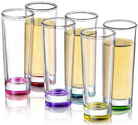 1. Hue Colored Shot Glass Set