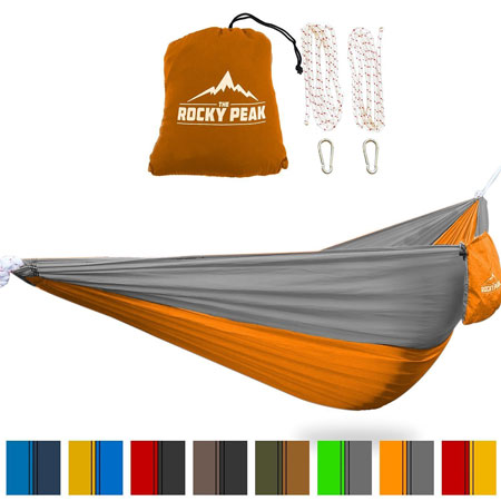 8. Ultralight Camping Hammock with FREE ROPES