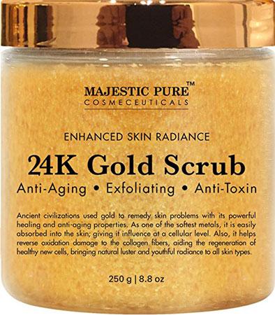 7. Gold Body Scrub