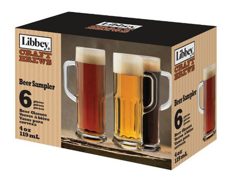 7. Libbey Craft Brews 4-Ounce Clear Beer Sampler