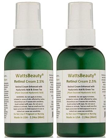 6. Watts Beauty 2.5% Retinol Cream