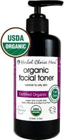 2. Herbal choice man organic facial toner