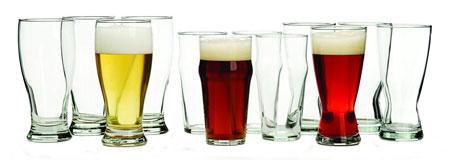 4. Libbey International 12 –piece Beer Glass Set