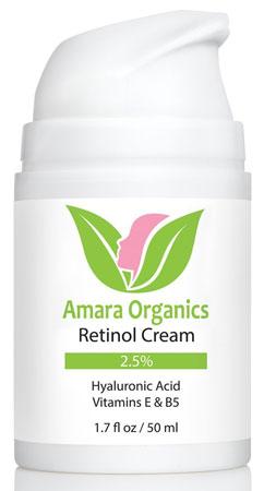 4. Amara Organics Retinol Cream