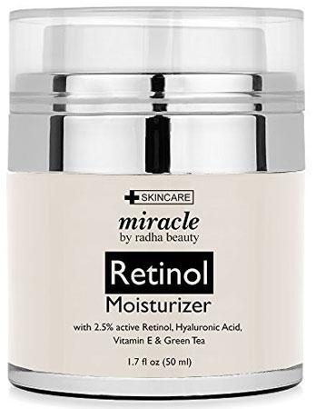 3. Radha Beauty Retinol Moisturizer Cream for Face and Eye Area