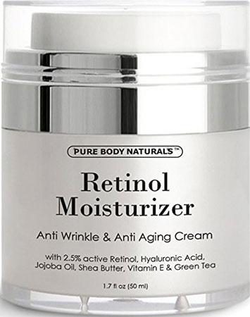 8. Pure body naturals retinol cream moisturizer