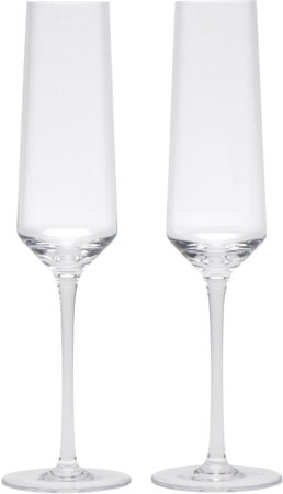 1. Crystal Champagne Flutes