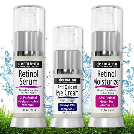 1. Derma-nu miracle skin retinol skin rejuvenation products