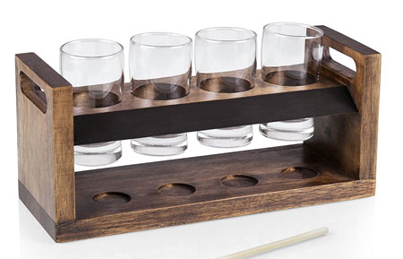 9. Picnic Time 'Craft Beer Four-Glass Flight Tasting Set