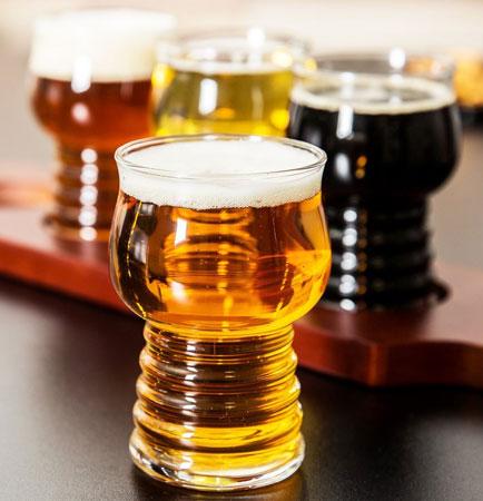 10. Set of 6 Libbey Hard cider Craft Beer Tasting