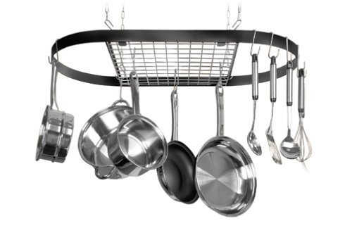 4. Kinetic Classicor Series Wrought-Iron Oval Pot Rack