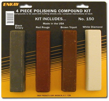 2. Enkay 150 Carded Polishing Compound Kit, 4-Piece