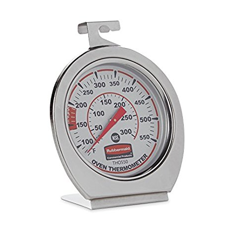 4. Rubbermaid Commercial FGTHO550 Stainless Steel Oven Monitoring Thermometer