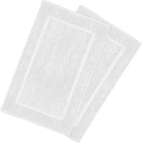 4. Utopia Towels 21-Inch-by-34-Inch Cotton Washable Bath Mat, White