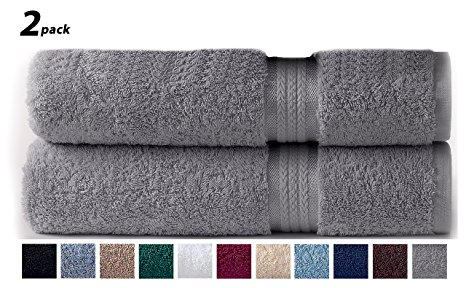 6. Cotton Craft Ultra Soft 2 Pack Oversized Extra Large Bath Sheet, charcoal