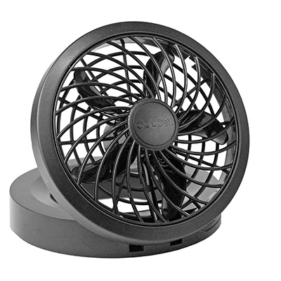 10. O2 Cool 10 Inch Rechargeable Energy Efficient Swivel Fan with USB